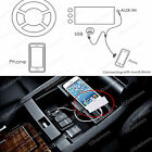 Car Stereo Audio Aux In 3.5mm 1/8 USB Cable Charger Adapter iPhone 6 8-pin Black