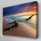 C337 Ocean Beach Sunset Wall Art Ready to Hang Picture Print