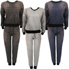 Ladies Tracksuit Womens Studded Wing Jumper Jogger Pant Top Tracksuit Sweatsuit