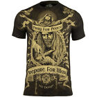 7.62 DESIGN MENS PREPARE FOR WAR T-SHIRT ARMY AIRSOFT GRAPHIC COTTON TOP BLACK