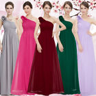 Women US Long Formal Bridesmaid Chiffon Prom Dresses Cocktail Party Gowns 08237