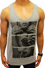NEW MENS GREY SINGLET DRUGS JOINT TANK TOP FASHION CASUAL MUSCLE EURO FIT GYM