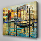 C285 Venice Canals Italy Canvas Wall Art Ready to Hang Picture Print