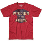 7.62 DESIGN PATRIOTISM IS NOT A CRIME T-SHIRT MENS ARMY HERO VICTORY TOP SCARLET