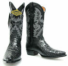 Men's New Turtle Belly Design Leather Cowboy Western Rodeo Boots J-Toe Black