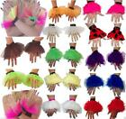 Neon TUTU  WRISTBANDS 80'S FANCY DRESS PARTY