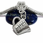 3D Silver Tone Measuring Cup Cooking Chef Dangle Charm fits Euro Bracelet Bangle