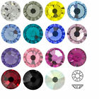 SWAROVSKI ELEMENTS Flat Back 2058 Foiled Glue Fix Sizes & Colors Rhinestones