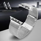 2* Stainless Steel Wristwatch Band Adapter Connection for Apple Watch 38mm 42mm