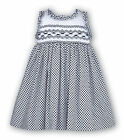 SARAH LOUISE SUMMER DRESS STYLE 8419 AGE 6M 12M 18M 2Y WHITE/NAVY
