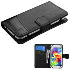 Universal Leather Flip Wallet Case Cell Phone Cover Pouch Card Slot Holder +Kit
