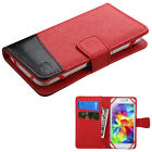 Universal PU Leather Flip Wallet Case Cell Phone Cover Pouch Card Slot Holder