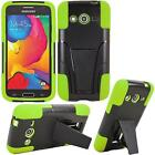 For Samsung Galaxy AVANT G386T Rugged Hybrid Case With Kickstand