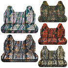 CC camouflage bench seat cover with molded headrest 24 colors select color / car