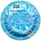 One Condom Pleasure Plus Condoms with Roomy Stimulating Pouch Pack 2 - 100