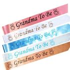BABY SHOWER SASHES - Grandma To Be Satin Sash Pink Blue Gold Peach White