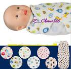 New Baby Kids Infant Soft Cotton Swaddle Wrap Sleeping Bag Blanket 0-6 Months Z