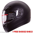 Matte Black Full Face Motorcycle Helmet DOT +2 VISOR Size: S, M, L, XL, XXL
