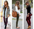 Ladies Skinny Fit Jeans By GLAMOROUS - Khaki - Dark Purple - Wine Red -All Sizes