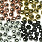Silver Gold Gunmetal Plated Seamless Round Spacer Beads 3mm 4mm 5mm 6mm 8mm 10mm