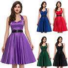 Halter Vintage Retro Housewife Rockabilly 40's 50's 60's Swing Pinup Jive Dress