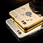 Luxury Slim Metal Bumper Mirror Back Case Cover For HUAWEI Ascend P8 / P8 Lite