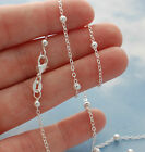 Round Beaded Chain Necklace 925 Sterling Silver Jewelry 16 18 20 22 24 26 28 30