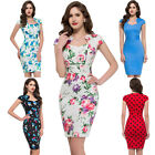 Cheongsam 40's 50's Housewife Rockabilly Party Pencil Vintage Retro Style Dress