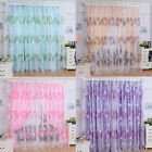 Floral Print Sheer Curtain Panel Door Window Balcony Tulle Voile Room Divider