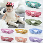 Baby Rabbit Ear Headband Hairband Toddler Girl Kids Elastic Turban Knot BowKnot