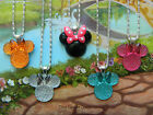 MINNIE MOUSE PENDANT NECKLACE PINK BLUE ORANGE GREEN BLACK LILAC