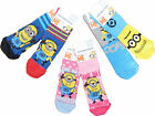Boys Girls Unisex Despicable Me Minion Socks Two Pack 6-8.5 9-12 12.5-3.5
