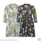 Women's Floral Print Top Ladies Spring Italian Style Outdoor Summer Dress