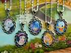 DISNEY CHARM NECKLACE ALICE WONDERLAND EEYORE DONALD DUCK SNOW WHITE