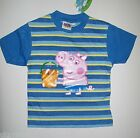 Boys Short Sleeved T Shirt George Pig from Peppa Pig NEW  2 3 4 5 6 Years
