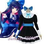Panty&Stocking With Garterbelt Meidofuku Maid Dress Uniform Cosplay Costume New