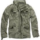 BRANDIT BRITANNIA FIELD JACKET WARM HIKING COAT MENS VINTAGE COTTON PARKA OLIVE