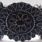 Silver Plated Over Copper Handmade Inlay Teardrop Cluster Stone Cuff Bracelet