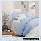 ROLAND Blue Pinstriped Quilt Cover Set by by Logan & Mason - QUEEN KING