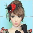 Mini Pillbox Hat Fascinator Hair Clip Accessories Lady Bridal Feather Wedding