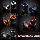 5 Color 6mm Carbon fiber Swingarm Sliders Spools For Yamaha YZF-R1 1999-2013