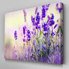 FL193 Lavender Patch Floral Canvas Wall Art Multi Panel Split Picture Print