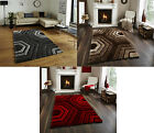 Noble House Hand Tufted Shaggy Pile Rug Super Soft Hexagon Design Mat Home Decor