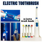 5 Heads Advance Electric Toothbrush Set Gum Clean Soft Action Power Remove Stain