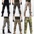 Casual Army Knee Pad Military Men Motorcycle Trousers Overall Camo Combat Pant