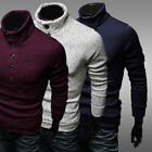 New Fashion Casual Mens Slim Fit Pullover Sweater Coat Turtleneck Knitwear Gift