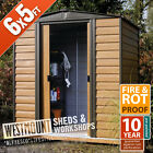 NEW SHIPLAP T&G STYLE WOOD EFFECT STEEL METAL SHED TIN