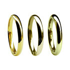 2mm 9ct Yellow Gold Court Comfort Wedding Rings 375 UK HM M Hvy & X Heavy Band