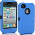 Heavy Duty Rugged Shock Proof Builders Workman Case Cover for Apple iPhone 4S, 4 <br/> BUILT IN SCREEN PRO | UK SELLER|FREE &amp; FAST UK SHIPPING