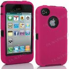 Heavy Duty Armour Shock Proof Builders Workman Case Cover for Apple iPhone 4S, 4